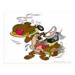 Taz Thanksgiving Plates Post Card