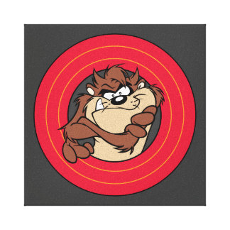 TAZ™ Through LOONEY TUNES™ Circles Canvas Print