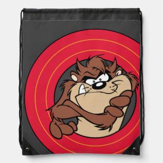 TAZ™ Through LOONEY TUNES™ Circles Drawstring Bag