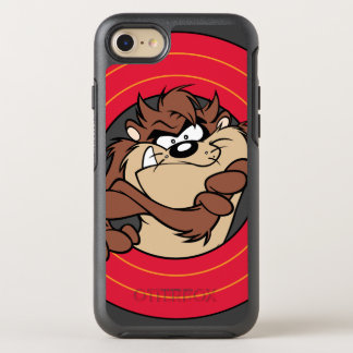 TAZ™ Through LOONEY TUNES™ Circles OtterBox Symmetry iPhone 8/7 Case