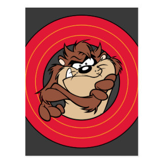 TAZ™ Through LOONEY TUNES™ Circles Postcard
