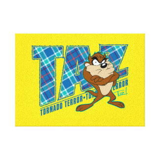TAZ™ Tornado Terror Plaid Canvas Print
