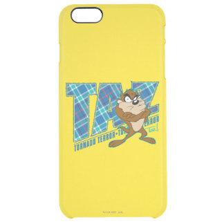 TAZ™ Tornado Terror Plaid Clear iPhone 6 Plus Case