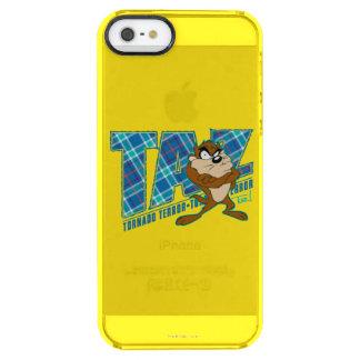TAZ™ Tornado Terror Plaid Clear iPhone SE/5/5s Case