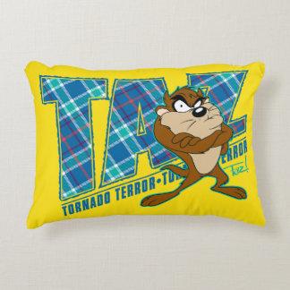 TAZ™ Tornado Terror Plaid Decorative Cushion