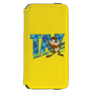 TAZ™ Tornado Terror Plaid Incipio Watson™ iPhone 6 Wallet Case