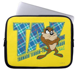 TAZ™ Tornado Terror Plaid Laptop Sleeve