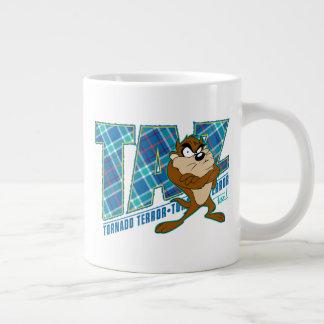 TAZ™ Tornado Terror Plaid Large Coffee Mug