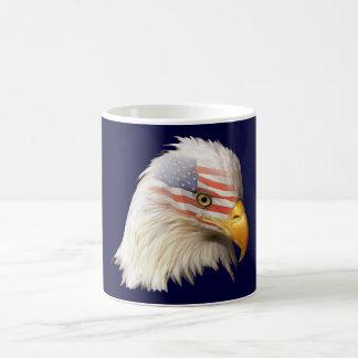 Taza con águila y bandera U S A-M1