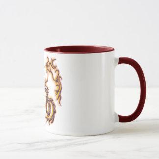 taza dragon rojo mug