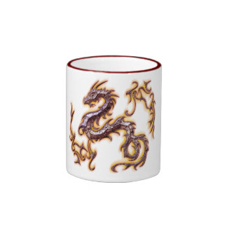 taza dragon rojo ringer coffee mug
