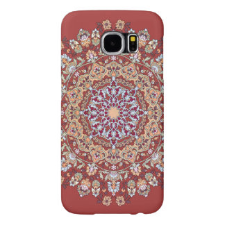 Tazhib of the Persian art with red bottom sends it Samsung Galaxy S6 Cases