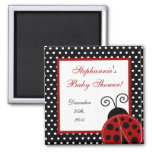 "{TBA} 2""x2"" Red Ladybug Party Favour Magnet"