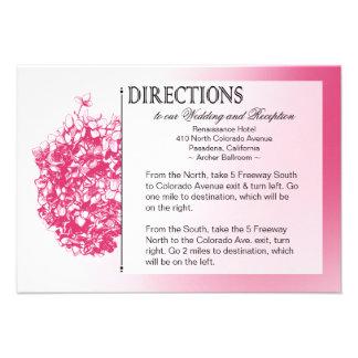 TBA Baroque Flowerball Wedding Directions Custom Invitations