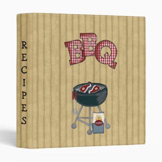 TBA BBQ Recipes Cookbook Avery Binder