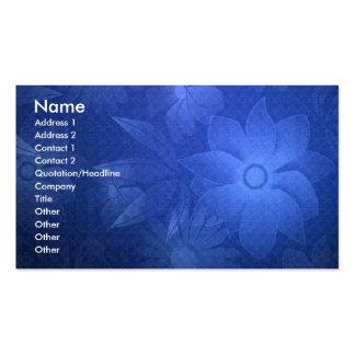 -TBA - Blue Floral Deco Business Cards
