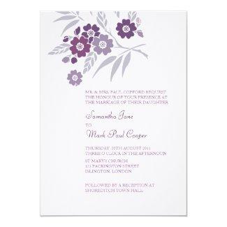 "TBA: Cherry Blossom Wedding Invitations 5"" X 7"" Invitation Card"