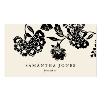 TBA damask floral calling card Business Cards
