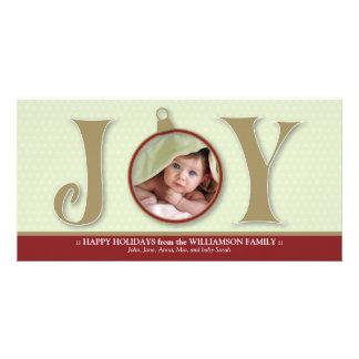 {TBA} Holiday Joy Custom Family Photocard (red) Custom Photo Card