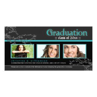 {TBA} Mystic Goth Graduation Announcement (aqua) Card