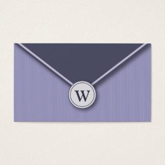 {TBA} Periwinkle Monogram Envelope Business Cards