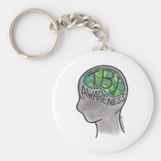 TBI Awareness Basic Round Button Key Ring