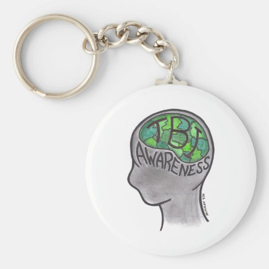 TBI Awareness Basic Round Button Key Ring