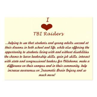 TBI Raiders Club card Pack Of Chubby Business Cards