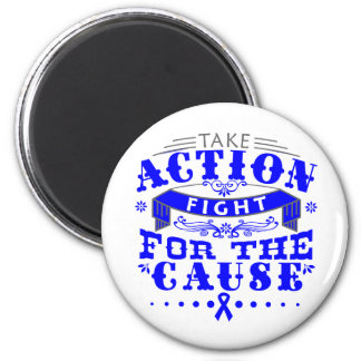 TBI Take Action Fight For The Cause Fridge Magnet