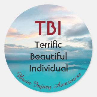 TBI Terrific Beautiful Individual Classic Round Sticker