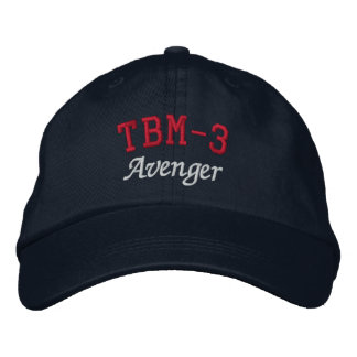 TBM-3 AVENGER EMBROIDERED BASEBALL CAPS