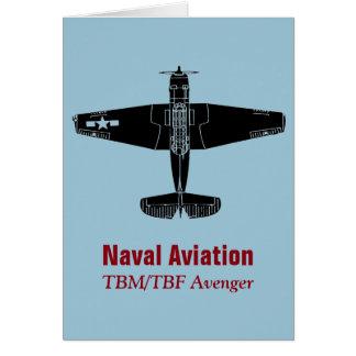 TBM/TBF Avenger Torpedo Bomber Greeting Card