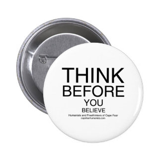 TBYB - Humanists White 6 Cm Round Badge