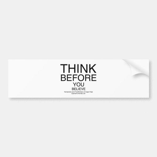 TBYB - Humanists White Bumper Sticker