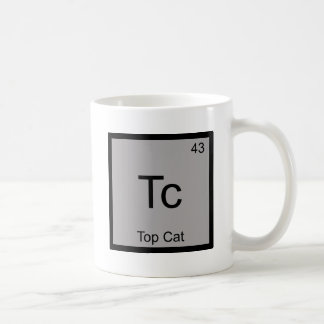 Tc - Top Cat Funny Chemistry Element Symbol Tee Coffee Mug