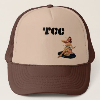TCC pin-up on vinyl Trucker Hat