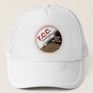 TCC Round Logo Hat, White Trucker Hat