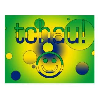 Tchau! Brazil Flag Colors Pop Art Post Cards