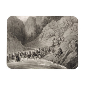 Tcherkersseians on a Raid near the Black Sea, plat Rectangular Photo Magnet