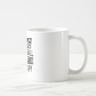 TCHOUKBALL IT IS CHEAPER THAN THERAPY BASIC WHITE MUG