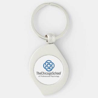 TCSPP Swirl Metal Keychain Silver-Colored Swirl Key Ring