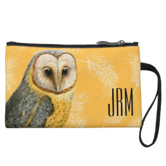 TCWC - Barn Owl Vintage Wristlet