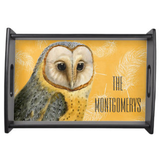 TCWC - Barn Owl Vintage Custom Serving Tray