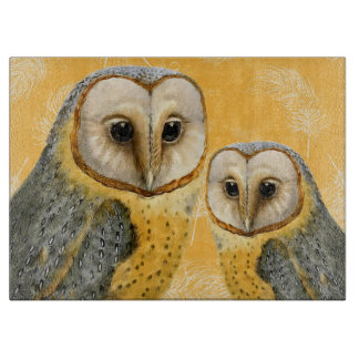 TCWC - Barn Owl Vintage for the Kitchen Cutting Board