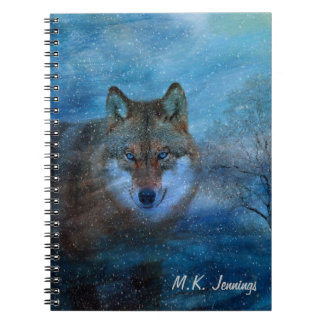 TCWC - Blue Wolf Christmas Notebook
