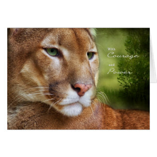 TCWC - Encouragement Card Puma Mountain Lion