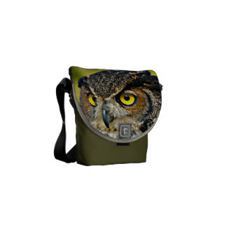 TCWC - Great Horned Owl Messenger Bags