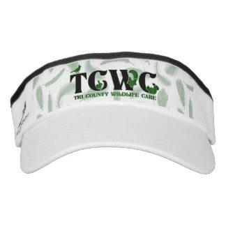 TCWC Logo Green Feathers Visor