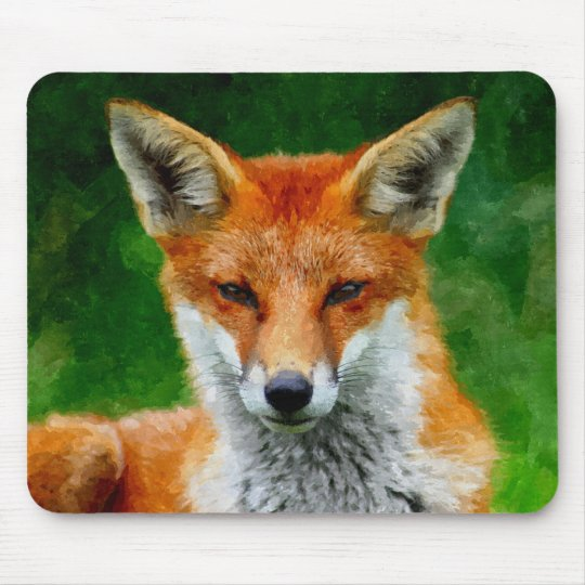 TCWC - Red Fox Watercolor Painting Mouse Mat
