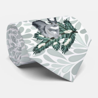 TCWC | Winter Squirrel on a Pine Branch Tie